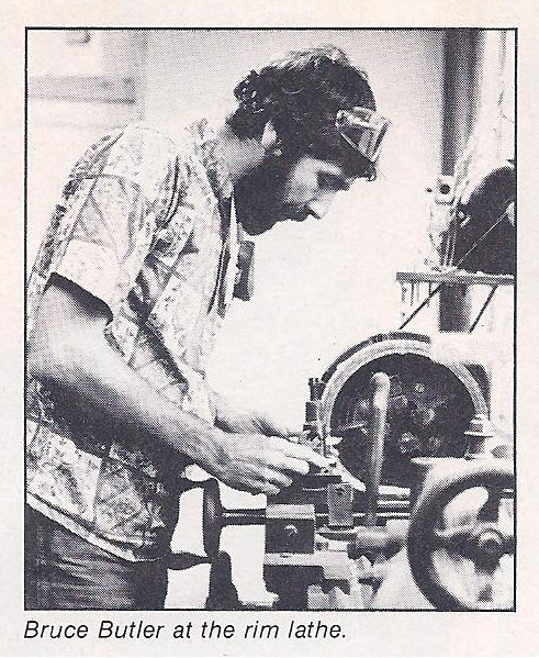 Bruce Butler at the rim lathe