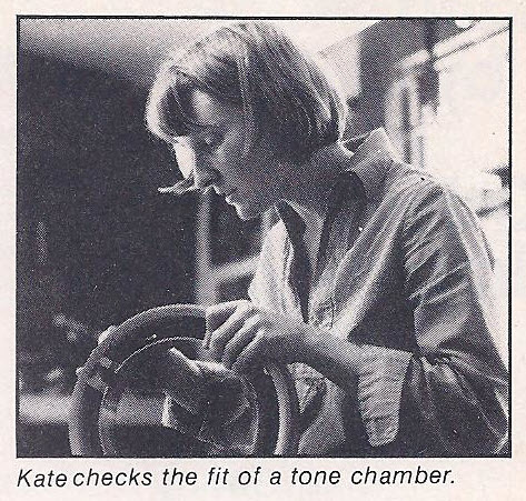 Kate checks the fit of a tone chamber