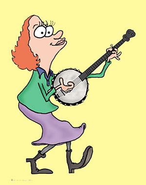 Kate Spencer Playing the Banjo