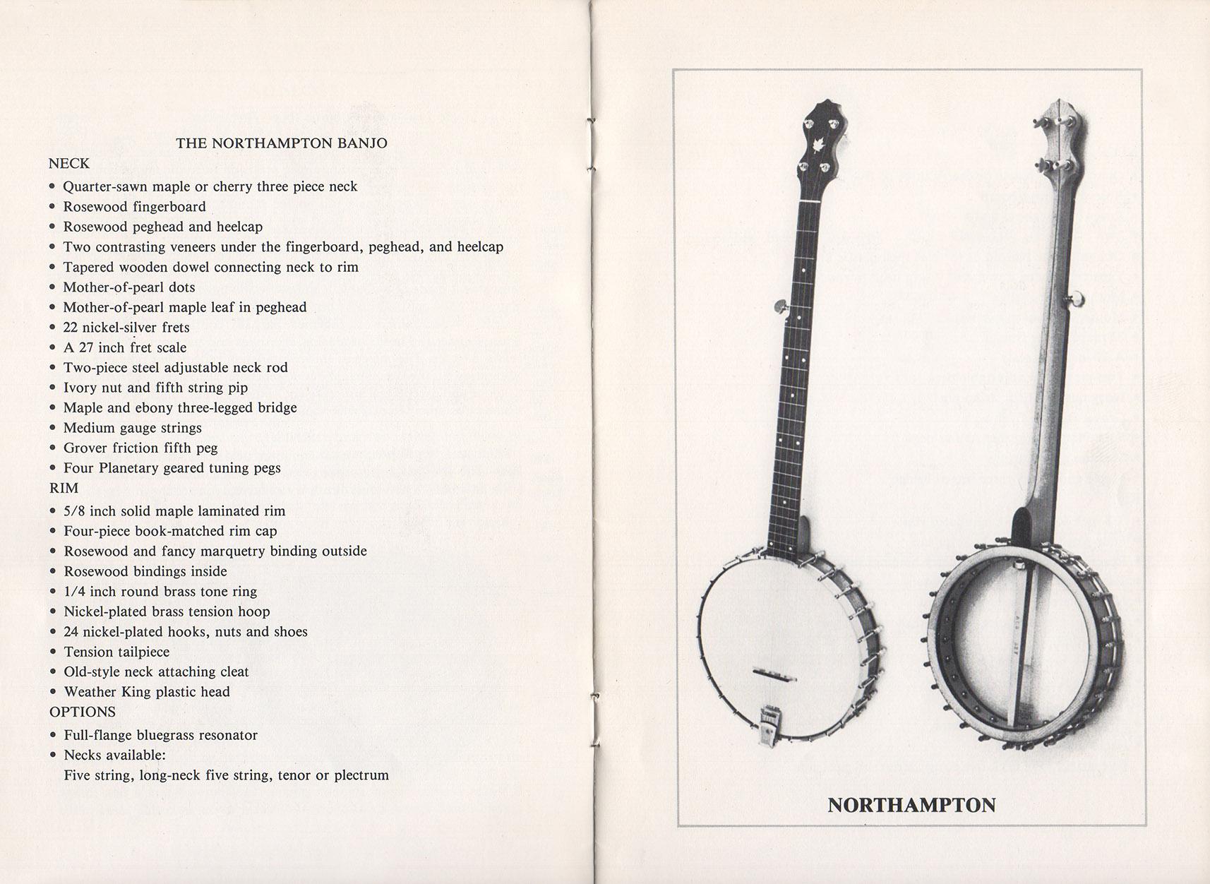 A E Smith Banjo Company Catalog NorthHampton