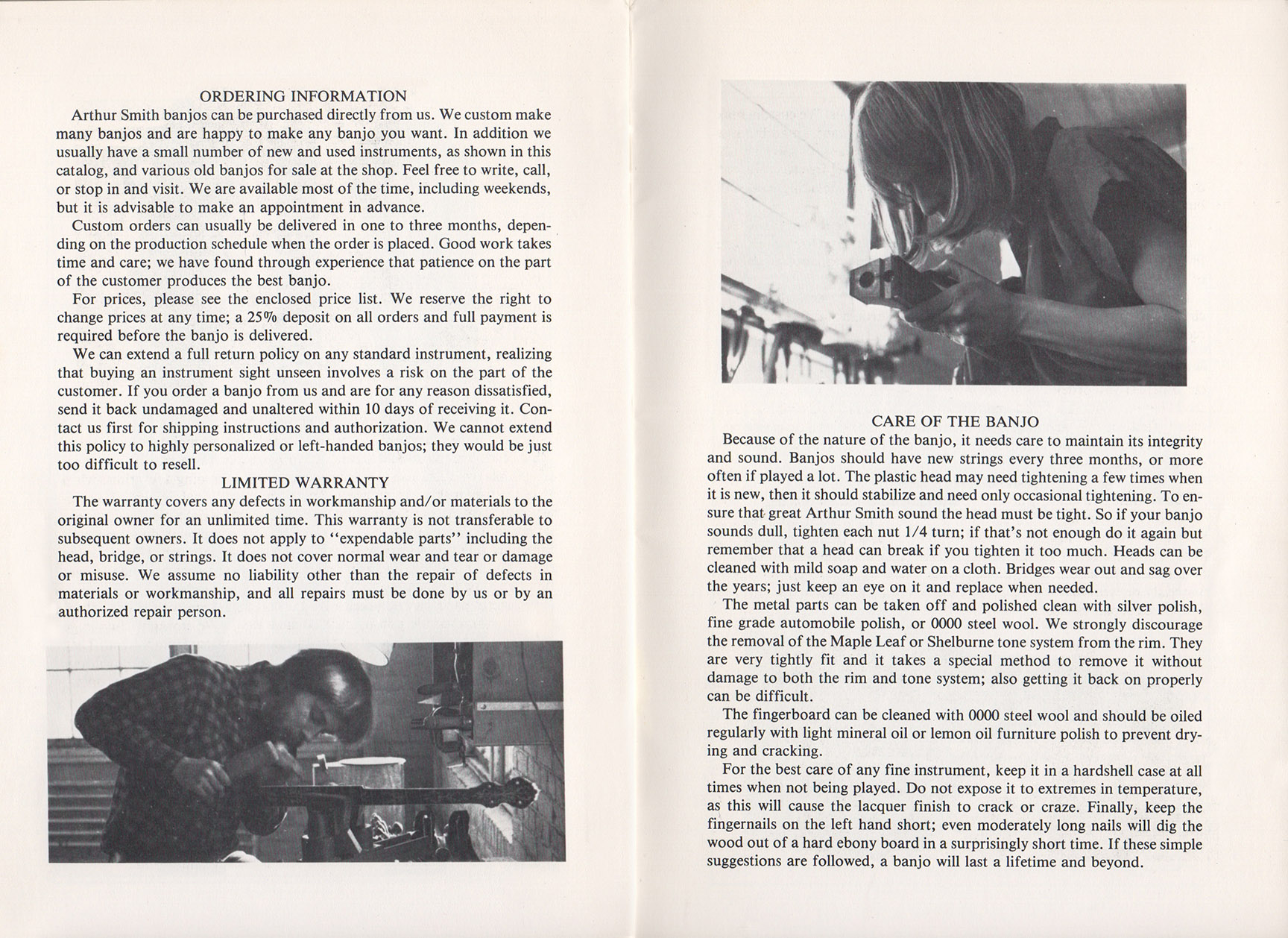 A E Smith Banjo Company Catalog page 8