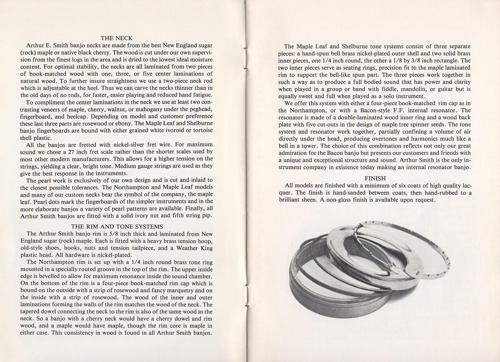 A E Smith Banjo Company Catalog page 2