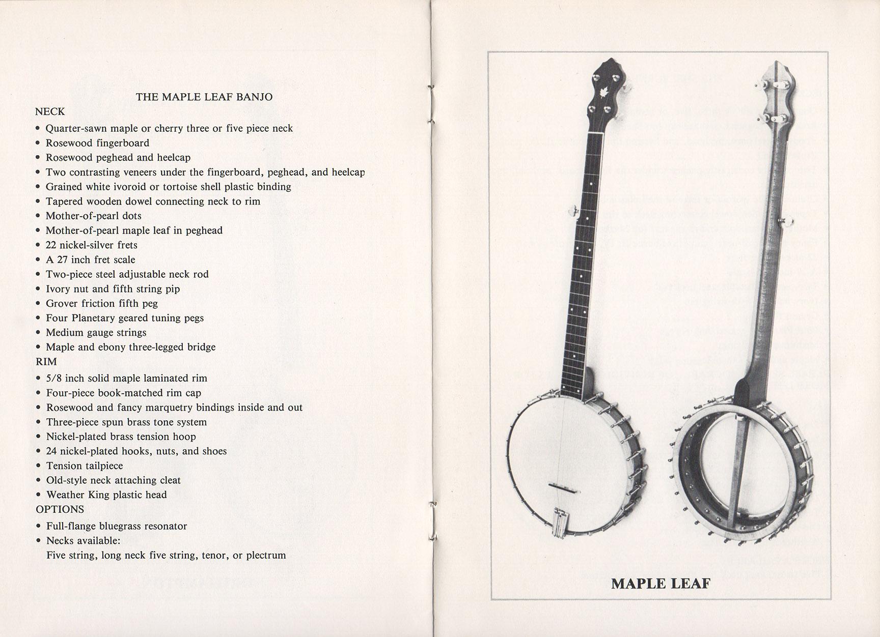 A E Smith Banjo Company Catalog page 3