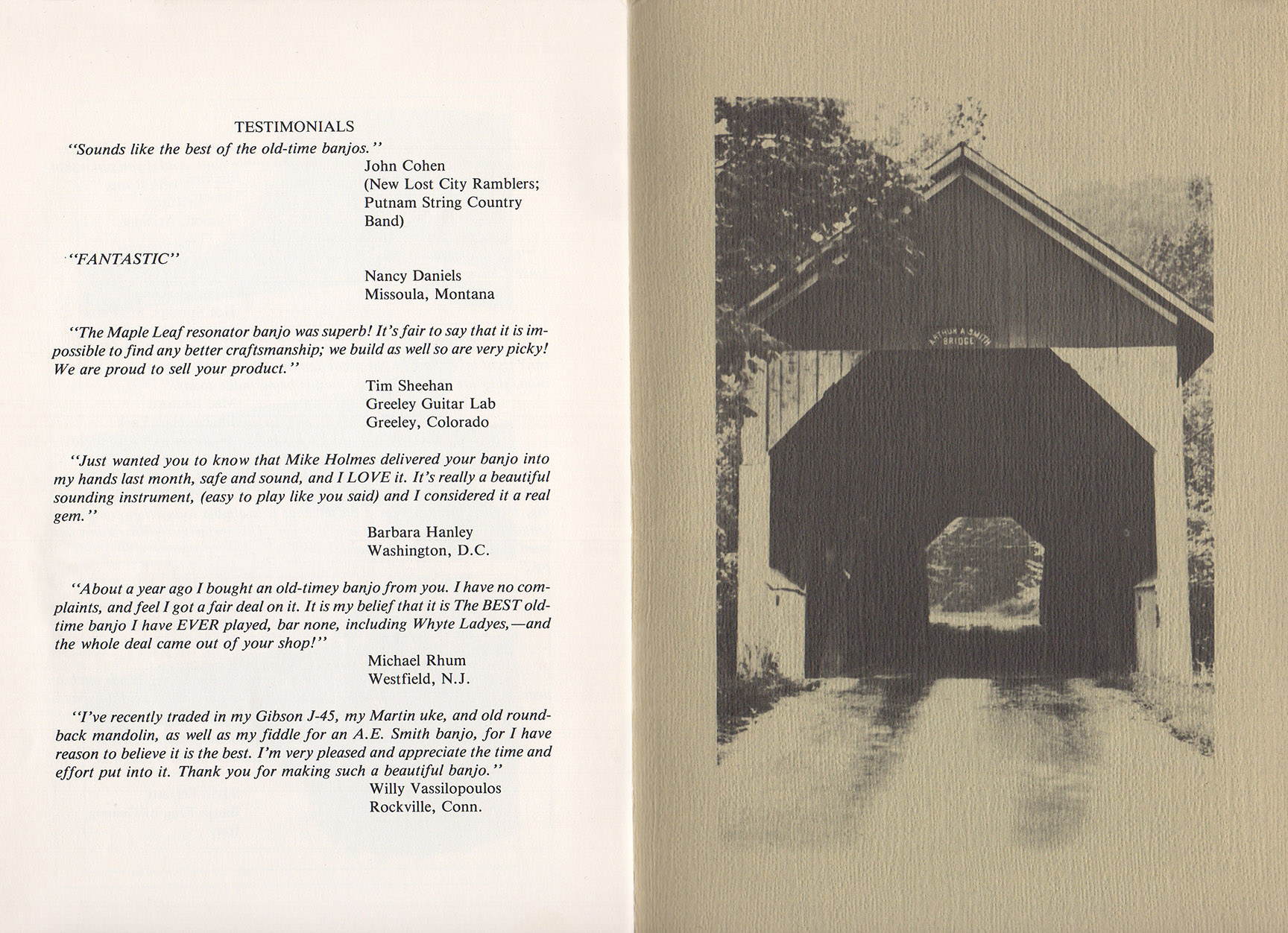 A E Smith Banjo Company Catalog page 9