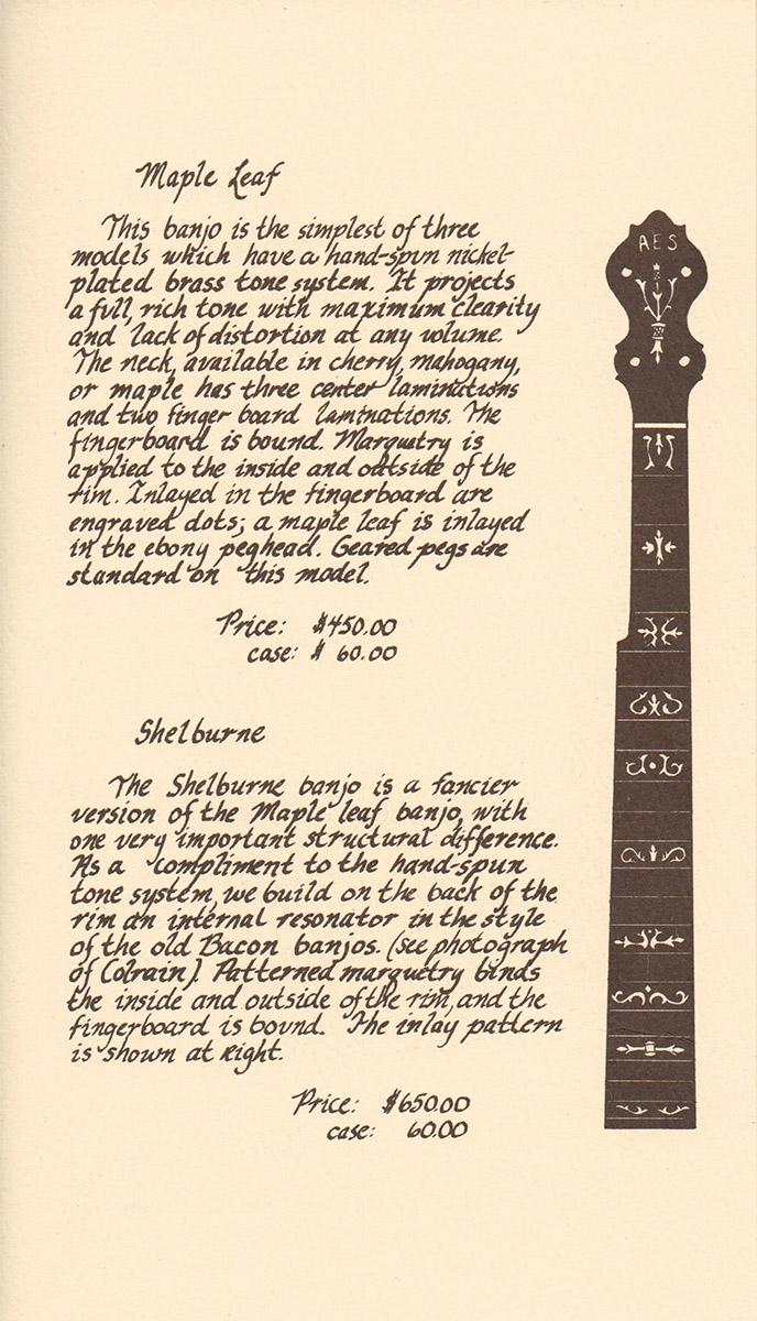 AE Smith Banjo Catalog 1 Panel 4